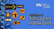 Guidelines for Traffic Control in Work Zone - Lexington-Fayette ...