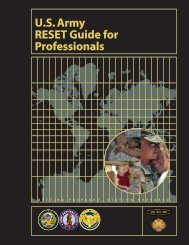 U.S. Army RESET Guide for Professionals - US Army War College