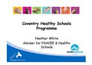 Coventry Healthy Schools Programme - Coventry Partnership