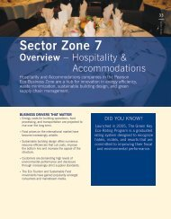 Hospitality and Accommodations Sector - Partners in Project Green