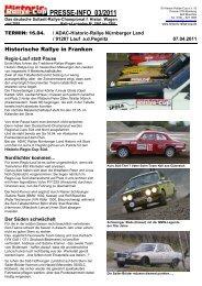 PRESSE-INFO 03/2011 - Historic-Rallye-Cup