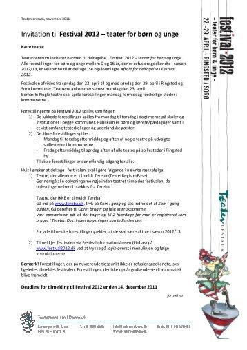 Invitation til Festival 2012 – teater for børn og unge