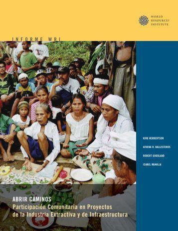 Abrir Caminos: La Participación Comunitaria en Proyectos - World ...
