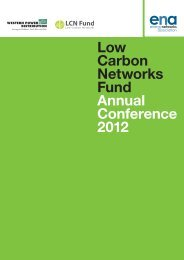 Low Carbon Networks Fund Annual Conference 2012 - Energy ...