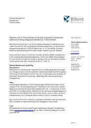 Anmeldelse af udvidelse af dyrehold i ... - Billund Kommune
