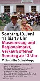 Sonntag,10. Juni 11 bis 18 Uhr Museumstag und Regionalmarkt ...
