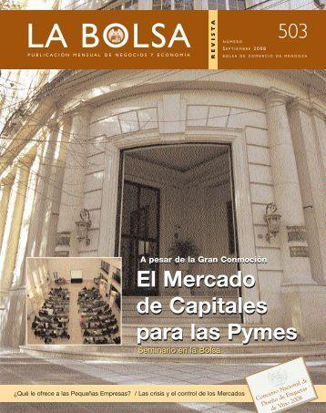 Septiembre - Bolsa de Comercio de Mendoza