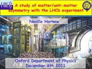 A study of matter/anti-matter asymmetry with the LHCb experiment A ...