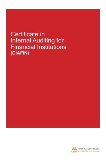 Certificate in Internal Auditing for Financial Institutions - Institute of ...