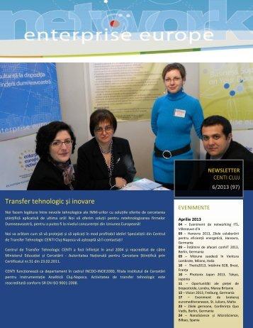 Transfer tehnologic și inovare - CENTI