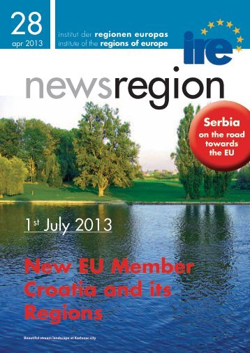 New EU Member Croatia and its Regions Serbia on the ... - Institut IRE