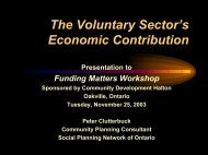The Voluntary Sector's Economic Contribution - Community ...
