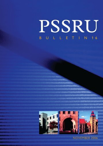 PSSRU Bulletin 16, November 2006 - School of Nursing, Midwifery ...