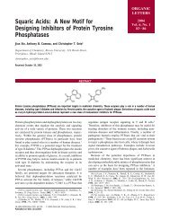 Squaric Acids: A New Motif for Designing Inhibitors of ... - Chemistry