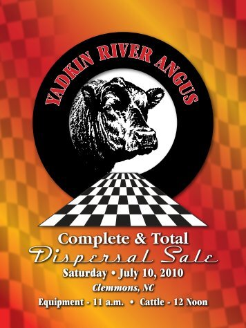 Complete & Total Dispersal Sale - Angus Journal