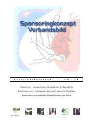 Sponsoring-Konzept Stand 2001 - Kunstturnerverband LU/OW/NW