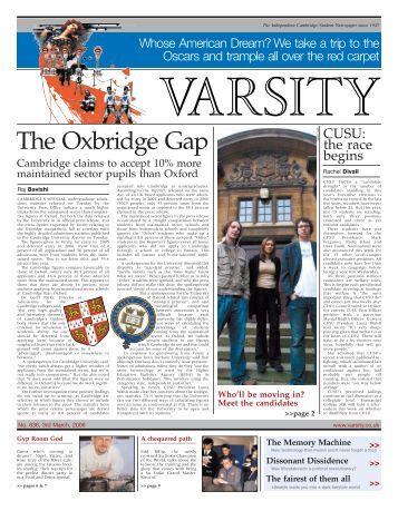 The Oxbridge Gap - Varsity