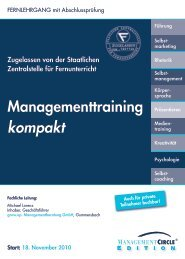 Fernlehrgang: Managementtraining kompakt - Management Circle AG