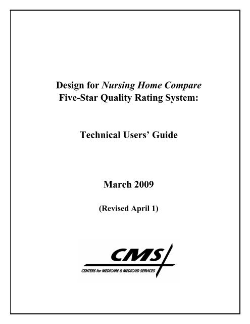 Design For Nursing Home Compare Five Star Quality Rating System
