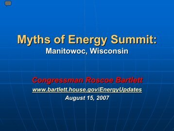 Myths of Energy Summit: