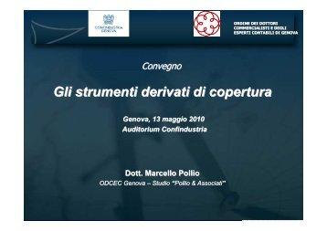 Gli strumenti derivati di copertura - Confindustria Genova