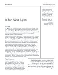 Indian Water Rights - Utton Transboundary Resources Center