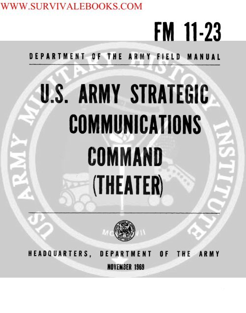 US Army Strategic Communications Command     - Survival Books