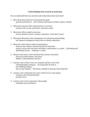 persuasive essay on motivation Persuasive speech example -the affect of suicide on those left behind - a sample persuasive speech using monroes motivated sequence.