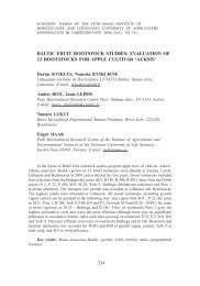 baltic fruit rootstock studies: evaluation of 12 rootstocks for apple ...