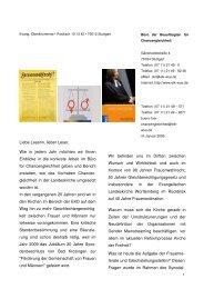 Jahresbrief 2009 - Die Beauftragte für Chancengleichheit in der ...