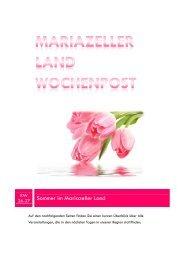Mariazeller Land Wochenpost KW 26-27 - Mariazellerland Blog