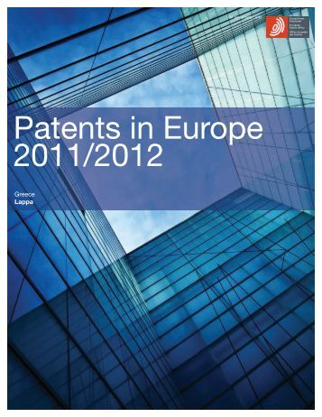 Patents in Europe 2011/2012 - Drakopoulos Law Firm