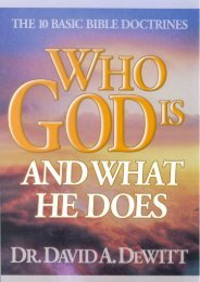 WHO GOD IS AND WHAT HE DOES - Free Bible Resources