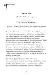 Matthias Kurth Präsident der Bundesnetzagentur Vier Thesen zur ...