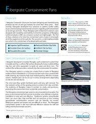 Fibergrate Containment Pans - Fibergrate Composite Structures Inc.