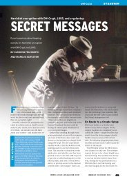SECRET MESSAGES - Linux Magazine