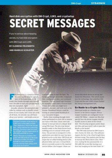 SECRET MESSAGES - Linux Magazine