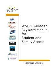 WSIPC Guide to Skyward Mobile for Student and Family Access