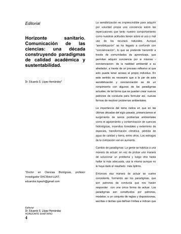 Horizonte sanitario, comunicación de las ciencias - Publicaciones ...