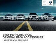 BMW PERFORMANCE. ORIGINAL BMW ACCESSORIES.