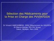 Sélection des Médicaments pour la Prise en Charge des ... - ReMeD