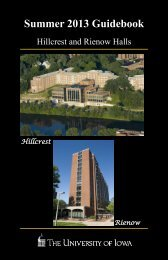 Slater, Rienow, and Hillcrest Halls - Housing - The University of Iowa