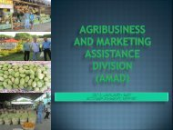 AGRIBUSINESS AND MARKETING ASSISTANCE DIVISION (AMAD)