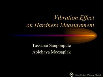 Vibration Effect on Hardness Measurement