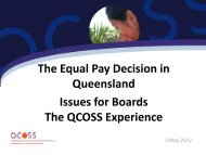 The Equal Pay Decision in Queensland Issues for Boards - NCOSS