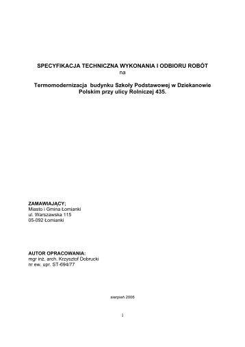 specyfikacja techniczna(pdf)