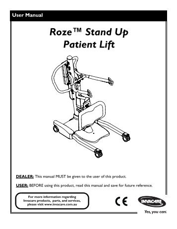 Roze™ Stand Up Patient Lift - Invacare