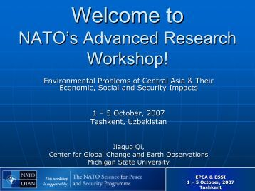 Workshop Logistic Issues - Center for Global Change and Earth ...