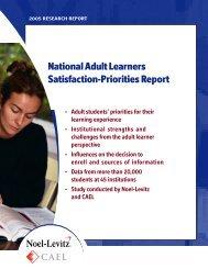 2005 Adult Learner Report - Enrollment Management Consulting