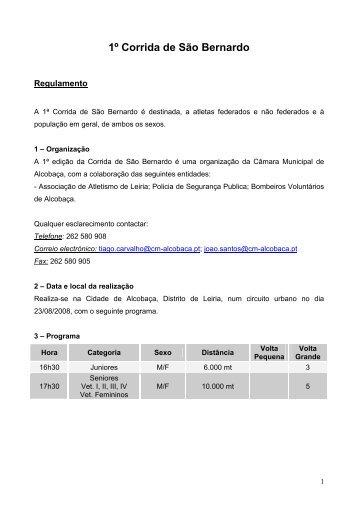 1º Corrida de São Bernardo - Município de Alcobaça